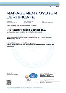 ISO CERTIFICATE HAUZER